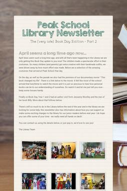 Peak School Library Newsletter