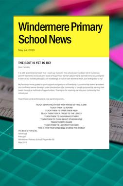 Windermere Primary School News