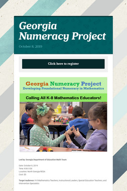 Georgia Numeracy Project
