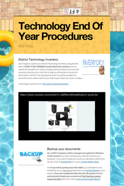 Technology End Of Year Procedures