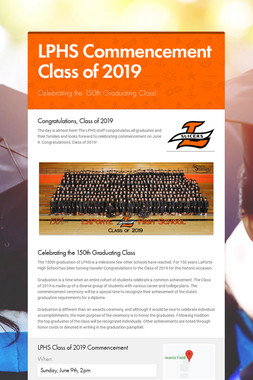 LPHS Commencement Class of 2019
