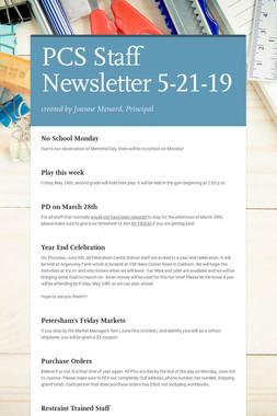 PCS Staff Newsletter 5-21-19