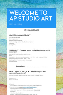 WELCOME TO AP STUDIO ART
