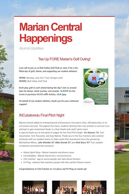 Marian Central Happenings