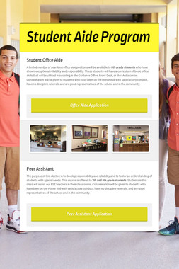 Student Aide Program
