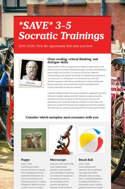 *SAVE* 3-5 Socratic Trainings