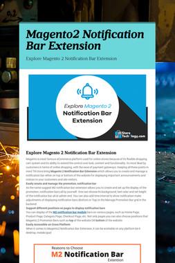 Magento2 Notification Bar Extension