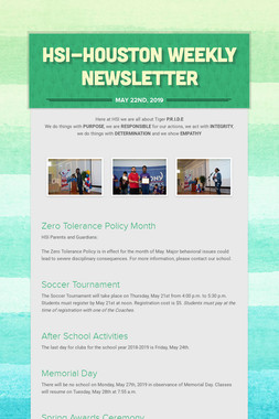 HSI-Houston Weekly Newsletter