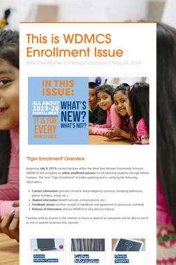 This is WDMCS  Enrollment Issue