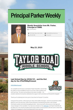 Principal Parker Weekly