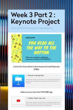 Week 3 Part 2 : Keynote Project