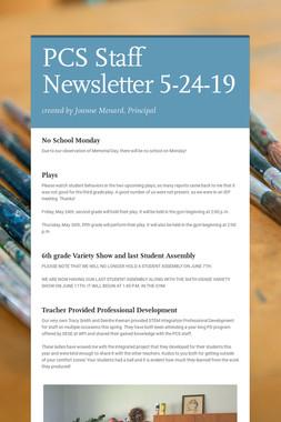 PCS Staff Newsletter 5-24-19