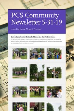 PCS Community Newsletter 5-31-19