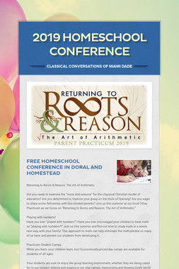 2019 Homeschool Conference