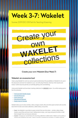Week 3-7: Wakelet