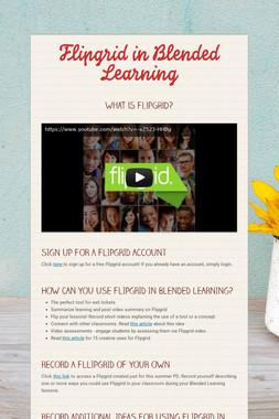 Flipgrid in Blended Learning