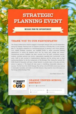 Strategic Planning Event