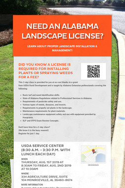 Need an Alabama Landscape License?