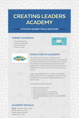 Creating Leaders Academy