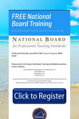 FREE National Board Training