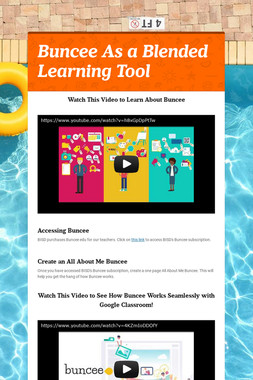 Buncee As a Blended Learning Tool
