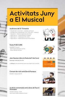 Activitats Juny a El Musical