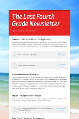 The Last Fourth Grade Newsletter