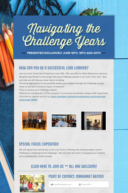 Navigating the Challenge Years