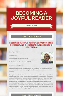 Becoming a Joyful Reader
