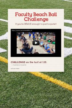 Faculty Beach Ball Challenge