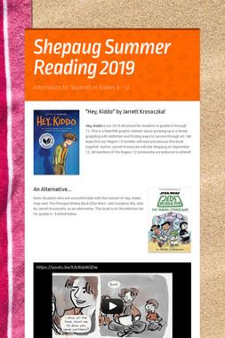 Shepaug Summer Reading 2019