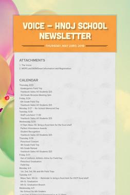 Voice - HNOJ School Newsletter