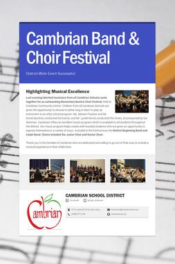 Cambrian Band & Choir Festival