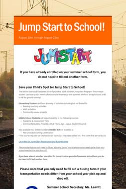 Jump Start to School!