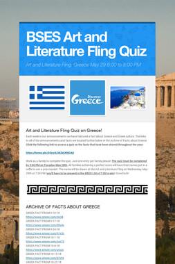 BSES Art and Literature Fling Quiz