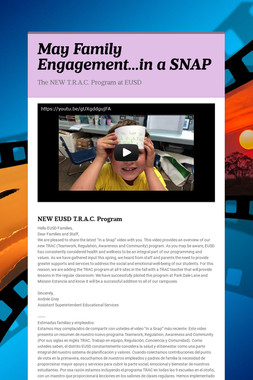 May Family Engagement...in a SNAP