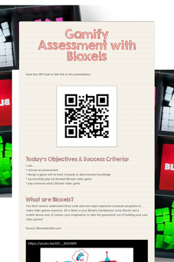 Gamify Assessment with Bloxels