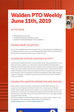 Walden PTO Weekly June 11th, 2019