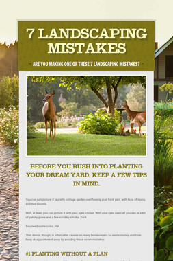 7 Landscaping Mistakes