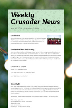 Weekly Crusader News