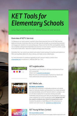 KET Tools for Elementary Schools