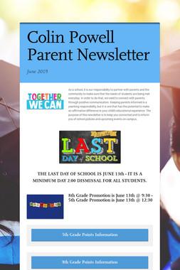 Colin Powell Parent Newsletter