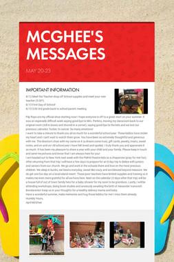 MCGHEE'S MESSAGES