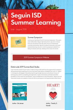 Seguin ISD Summer Learning