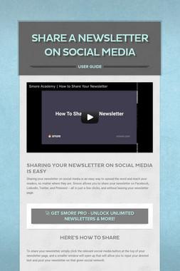 Share A Newsletter on Social Media