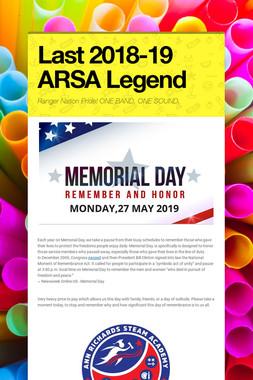 Last 2018-19 ARSA Legend