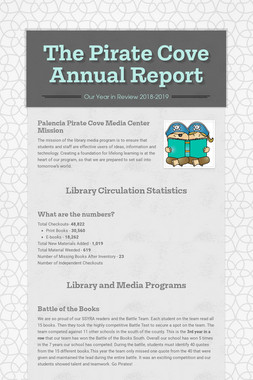 The Pirate Cove Annual Report
