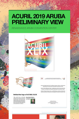 ACURIL 2019 ARUBA PRELIMINARY VIEW