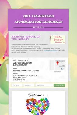 HST Volunteer Appreciation Luncheon