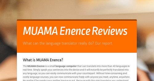 MUAMA Enence Reviews